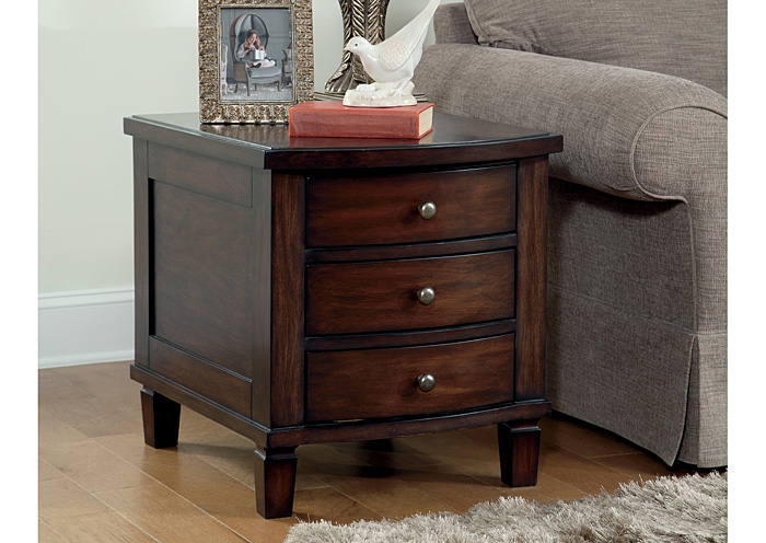 Holloway End Table with Storage,Ashley Close Out
