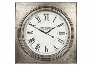 Image for Pelham Antique Silver Finish Wall Clock