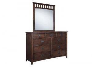 Image for Strenton Brown Bedroom Dresser & Mirror Set
