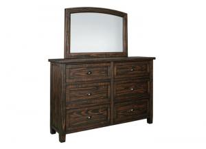 Image for Trudell Golden Brown Bedroom Dresser & Mirror