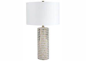 Image for Alejandra Gold Finish/White Ceramic Table Lamp