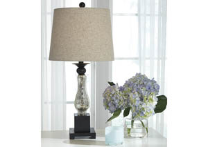 Image for Stephan Black/Silver Finish Table Lamp