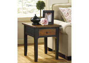 Image for Paskene Rectangular End Table