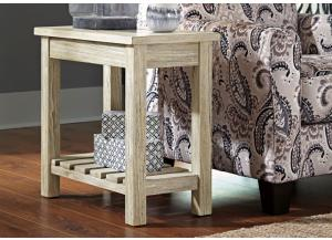 Image for Veldar Whitewash Chair Side End Table