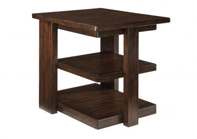 Image for Garletti Dark Brown Rectangular End Table