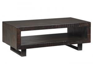 Parlone Brown/Black Rectangular Cocktail Table