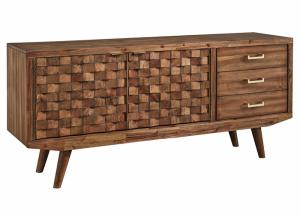 Chiladda Warm Brown Extra Large TV Stand