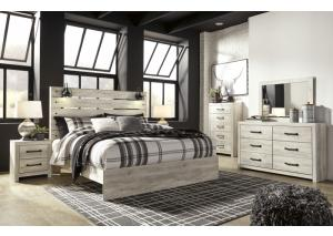 Cambeck King Panel Bed w/Dresser, Mirror and Nightstand