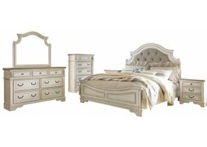 Image for Realyn King Upholstered Bed w/Dresser, Mirror and Nightstand