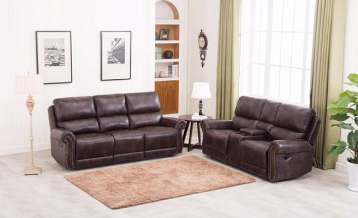 2 PC Reclining Living Room Set,Orleans Showcase