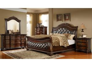 Image for King Sleigh Bed,  Dresser, Mirror and 1 Nightstand.