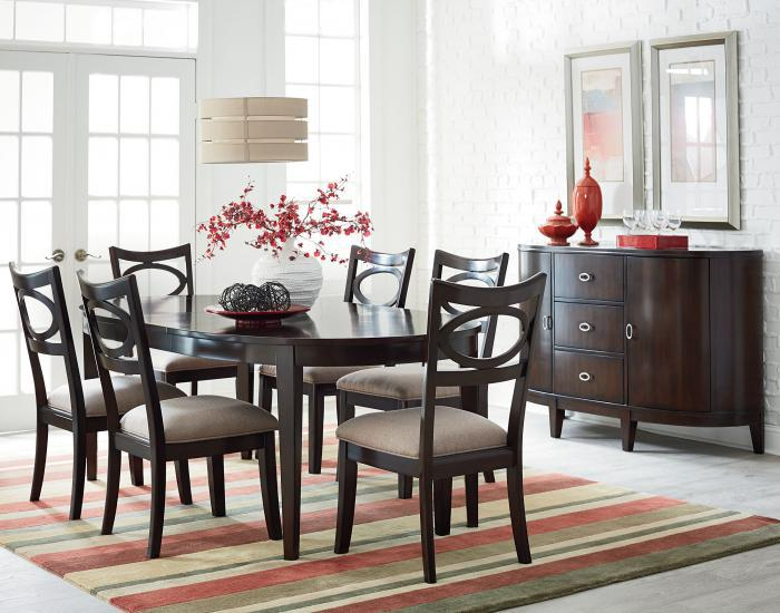 Serenity Table and 4 Side Chairs,Standard Furniture
