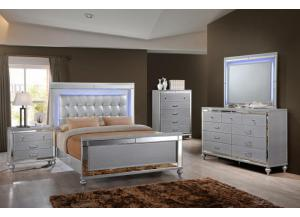 Image for Valentino Dresser, Mirror, and Queen Bed