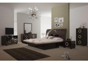 Image for Monte Carlo Queen Bedroom Set - WENGE (Queen Bed, Dresser, Mirror, 1 Night stand