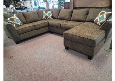 Image for New L&A 3 Piece Sectional with RAF Chaise