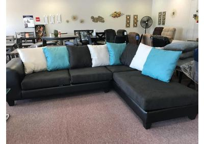 Image for Black PFI Sectional with Chaise
