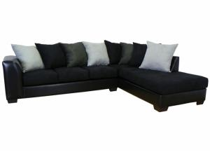 Image for Black CTC Sectional with Chaise