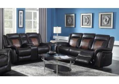 Image for CTC 2270 Two Tone Brown Sofa and Loveseat