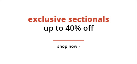 Exclusive Sectionals 40% Off