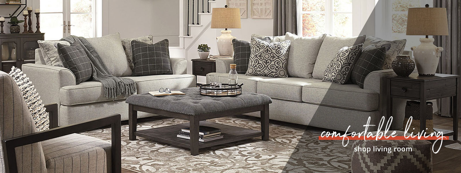 grey living room set