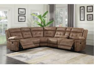Image for Cheers Triple Reclining Sectional with Console