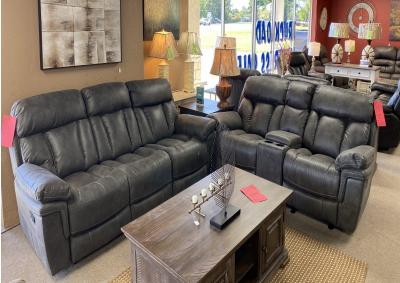 Image for Cheers 9597 Reclining Sofa & Rocking Reclining Love Seat 25655 Gray