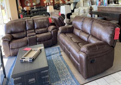 Image for Cheers 8625 Sofa & Loveseat Chocolate Brown