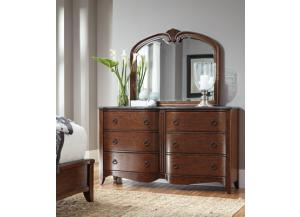 Image for Dresser and Mirror w/ Gray Marble