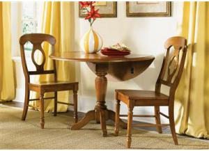 Image for 76 Low Country Drop Leaf Pedestal Table w/2 Chairs