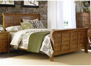 Image for 175 Grandpas Cabin Queen Sleigh Bed