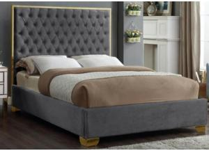 Image for Lexi Gray w/Gold Trim Queen Bed