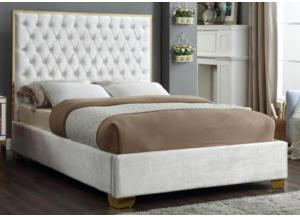 Image for Lexi White w/Gold Trim King Bed