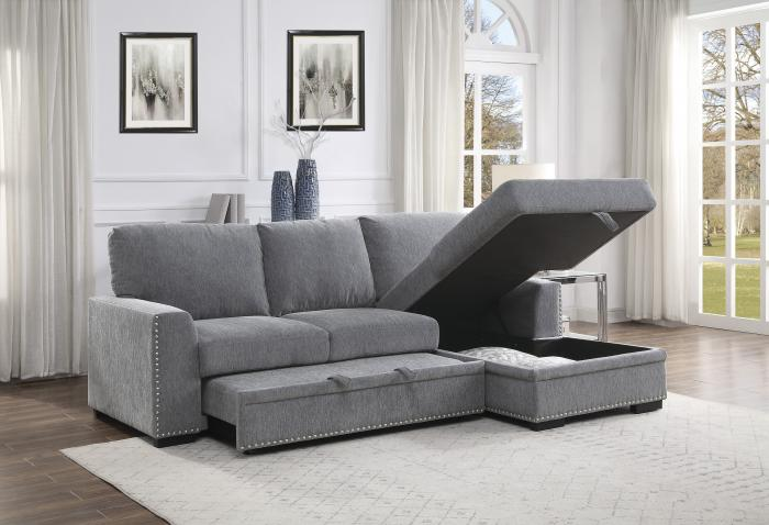 Morelia Right Chaise Sectional with Sleeper and Storage,New and Hot