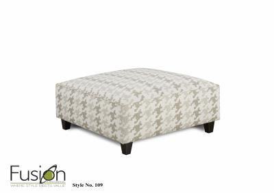 Image for Basic Wool Cocktail Ottoman w/Revolution Fabric