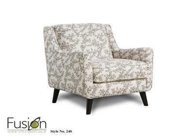Image for Greece Berber Accent Chair w/Revolution Fabric  - Evenings Stone Collection
