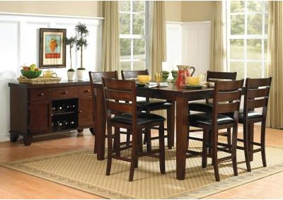 Image for Amelia Dark Oak Counter Height Table w/B.Fly Leaf 5pc. Dining Set