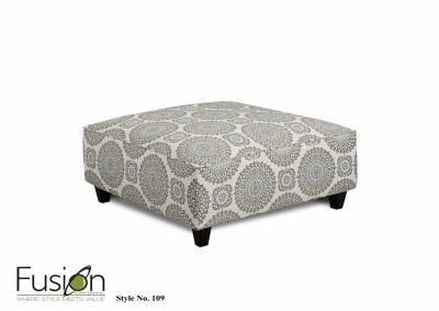 Image for Brianne Twilight Cocktail Ottoman - Grande Mist Collection