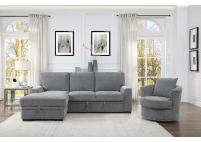 Image for Morelia Left Chaise Sectional with Sleeper and Storage