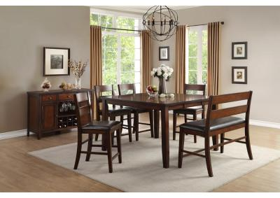Image for Malta Counter Height Table w/Leaf 5pc. Dining Set