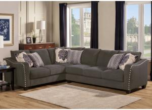 Image for Angelina Charcoal Sectional Left Tux