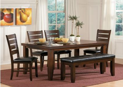 Image for Amelia Dark Oak Standard Height Table w/B.Fly Leaf 5pc Dining Set