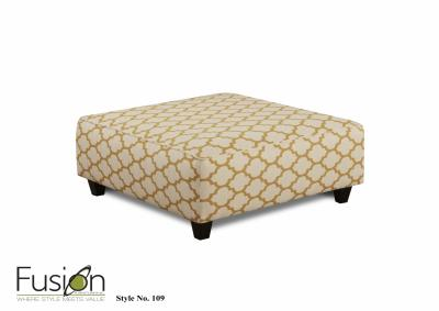 Image for Cash Citrine Cocktail Ottoman (Maxwell Gray Collection)