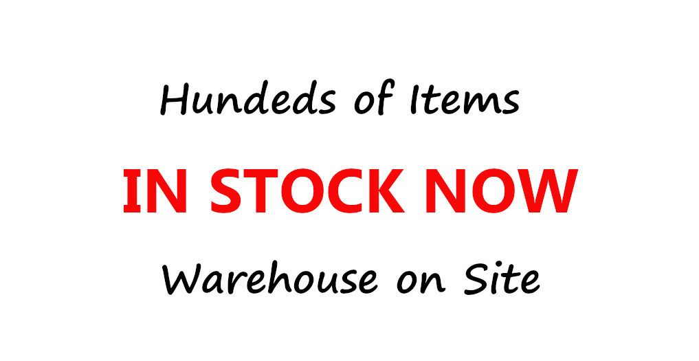 In Stock Now Warehouse on site