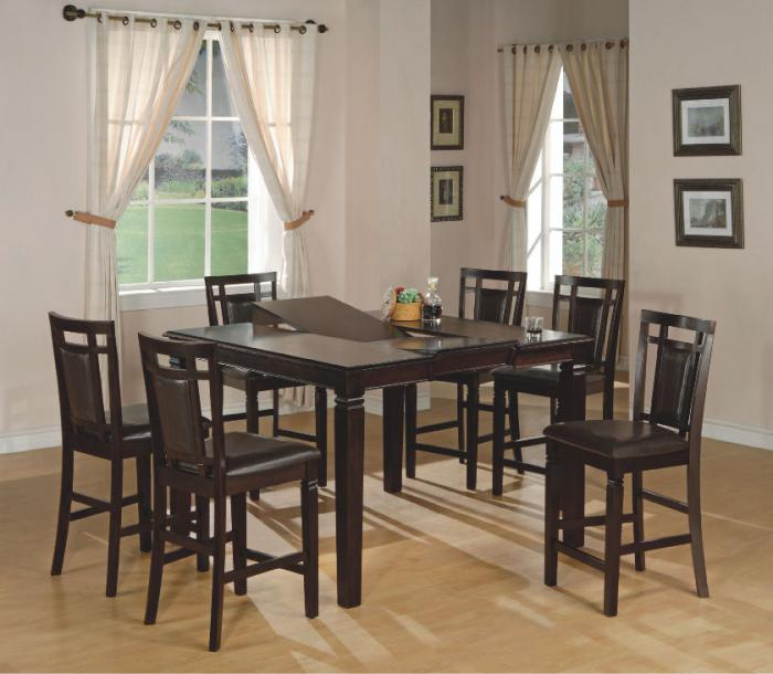 Fulton Butterfly Leaf Dinette with 4 Counter Height Stools,Home Source Furniture