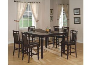 Image for Fulton Butterfly Leaf Dinette with 4 Counter Height Stools