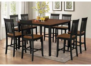 Image for Black & Cherry Counter Height Stools (2)