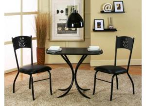 Image for Cameo Black 3 Piece Bistro Set