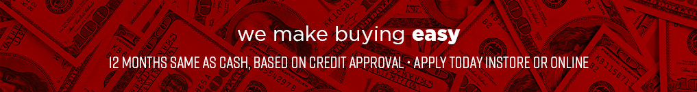 We Make Buying Easy with Financing