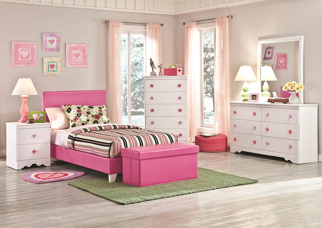 Savanah Twin Pink Bed,Kith
