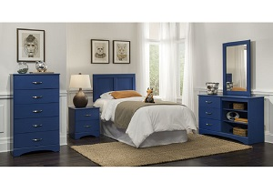 Royal Blue 5 Drawer Chest